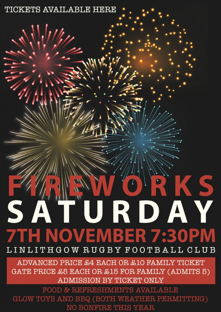 Fireworks 2015 | Linlithgow Rugby Club
